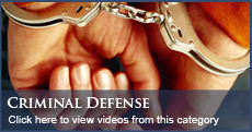 Criminal Defense Law Videos